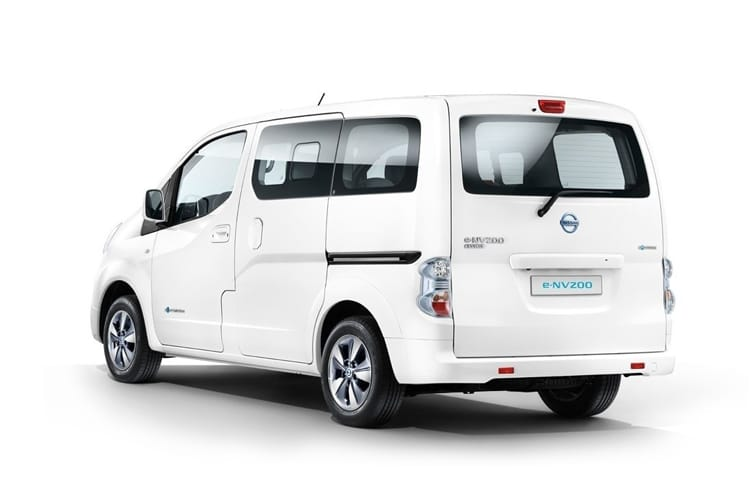 Nissan NV200 e-NV200 Combi M1 Elec 40kWh 80KW FWD 109PS Acenta 50kW QC Combi Auto [5Seat] back view